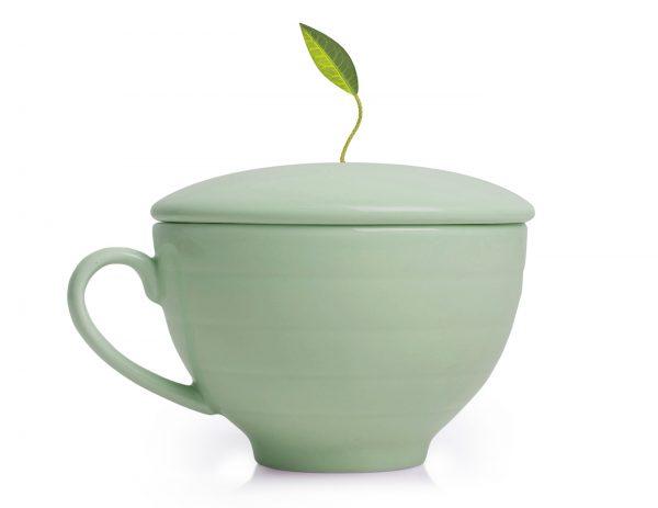 Fleur Tea Cup W/Lid